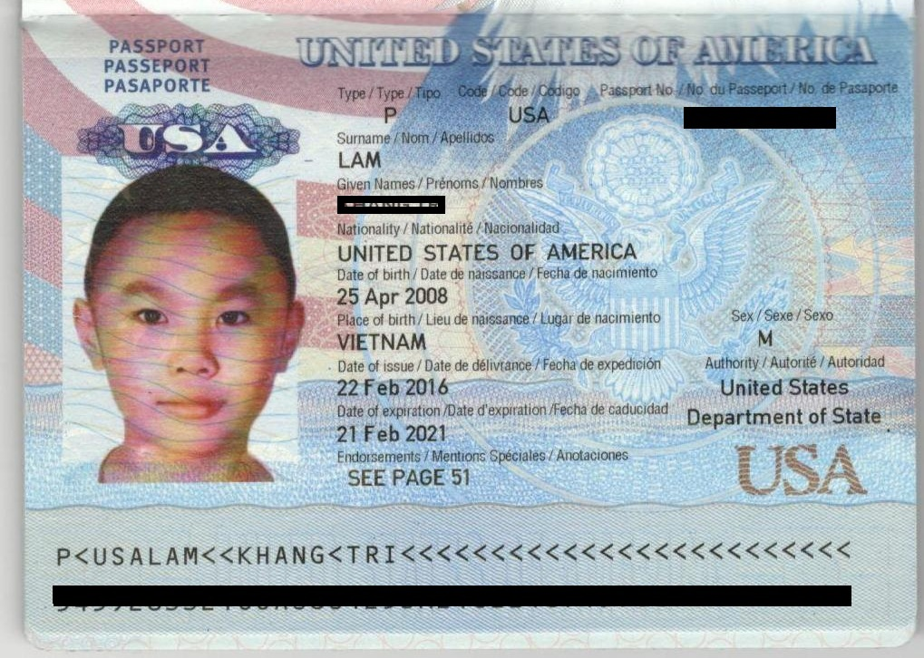Khách hàng nhận Passport Mỹ
